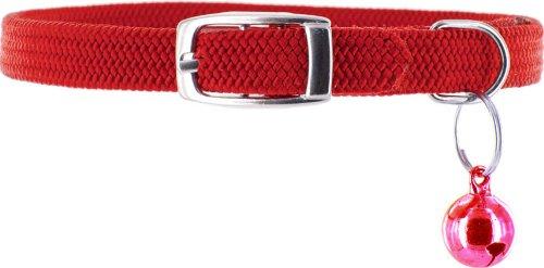 Kakadu Pet Tinker Bell Nylon/Elastic Safety Cat Collar with Bell, Red – 3/8″ x 12″, My Pet Supplies