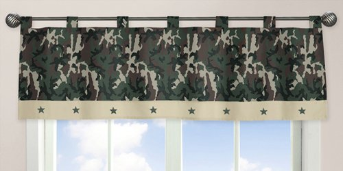 indow Valance, Green Camo Army Military Camouflage (Camo Window Blind)