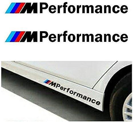 Autodomy Confezione Adesivi M Performance 2 Pezzi per Auto Argento