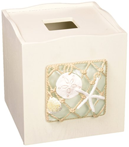 Avanti Linens Seaglass Tissue Cover, Medium, Multicolor (Cover Box Theme Beach Tissue)