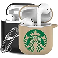 Airpods Case 3 Pack 3 pcs Case + Keychain,Competible with Airpods 1 2 Holder Protective,Led visble for Airpods Gen2,with Clip Fundas Airpod Apple Earbuds Silicon Rubber Cover