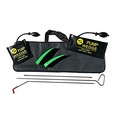 Now Rabbit 7 Piece Professional Kit - Easy Entry Long Reach Grabber with Air Wedges, Non Marring Wedges and Carrying Case for Car: Automotive