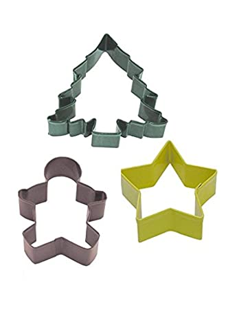 R& M International 0398 Spring 3-Piece Cookie Cutter Set in Organza Gift Bag, Butterfly, Tulip, Dragonfly