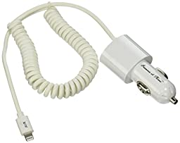 3.4A Apple Certified Rapid Coiled Lightning Car Charger