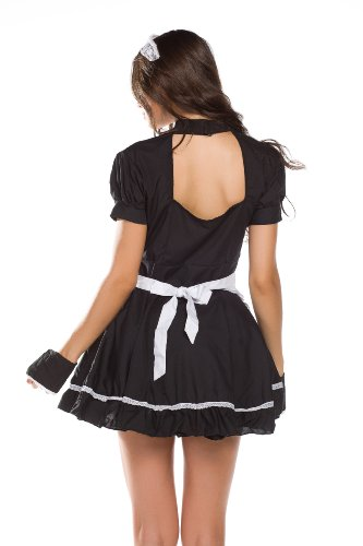Amour-New Sexy Lingerie Japanese Cosplay Lolita French Maid Costume Dress