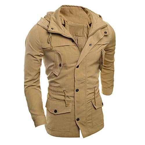 Clearance!Men's Zip Pocket Polid Silim Casual Jacket Coat Outwear Overcoat Outwear Tops