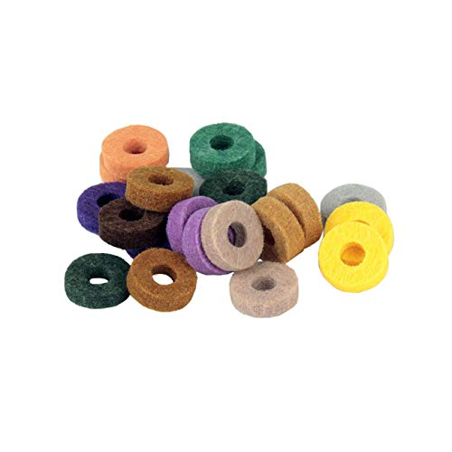 Bigsweety 20pcs Colorful Drum Cymbal Replacement Accessories Cymbal Felts Clutch Cup Cotton Cymbal Washer