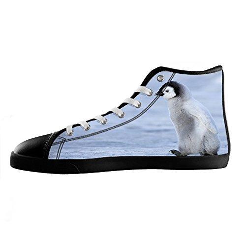 Zapatos De Lona Personalizados Penguin Para Mujer Los Cordones De Zapatos Zapatos Deportivos Altos