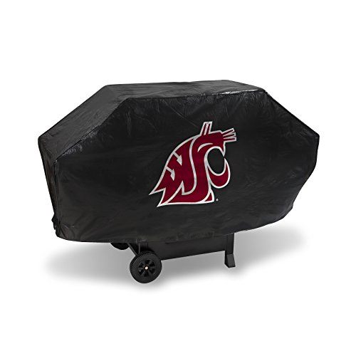 NCAA Washington State Cougars Deluxe Grill Cover, Black, 68 x 21 x 35