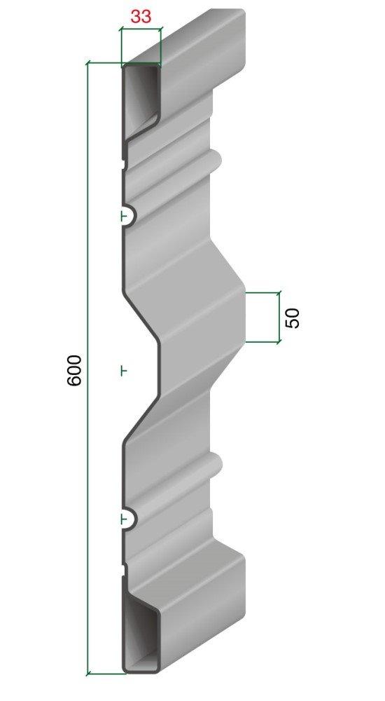 15310 Bordwand 600/33 Blechdicke 2 mm Archus Neumeier GmbH & Co. KG