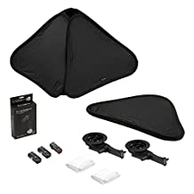 """Fotodiox Foldable Softbox 2x Flash Kit with Remote Triggers for Canon - 28x28"""" - Black - SBX-Foldable-FlshBrckt-28in-2xCanon"""