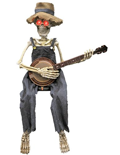 Morris Costumes Skeleton Playing Banjo 39 in -