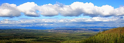 Late Afternoon Sun Over The Tintina Trench Near The Dempster Highway Yukon Poster Print  23 X 8