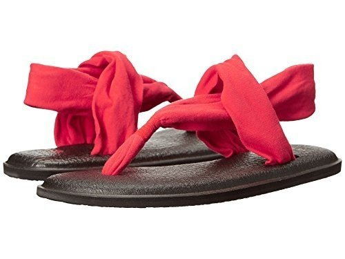 Sanuk Women's Yoga Sling 2 Flip Flop (9 B(M) US, Bright Red)
