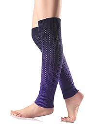 Urban CoCo Women's Gradient Color Footless Socks Knit Crochet Warm Leg Warmer