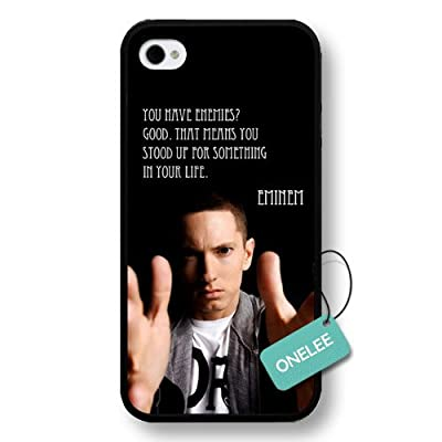 Onelee(TM) - Rap Singer Eminem Hard Plastic iPhone 4s Case & Cover - Eminem iPhone 4 Case