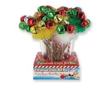(4) CHRISTMAS HOLIDAY JINGLE BELLS Pens~ Festive Party Favors ~ X-MAS EVE ~ Santa Gifts ~ Stocking Stuffers ~ Teacher Classroom Gifts ~ Assorted -