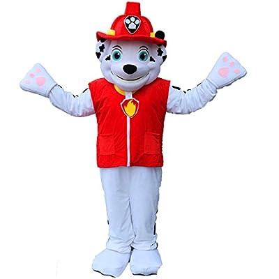Patrol Marshall dog Mascot Costume Cartoon Character Adult Sz 100% Real Picture Longteng ?TM?