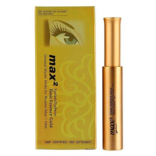 Beauty7 Max2 Eyelash Eyebrow Glow Tonic Essence Gold for Lash Extension Longer Fuller Lash Growth Treatment Enhancer Accelerator 10ml