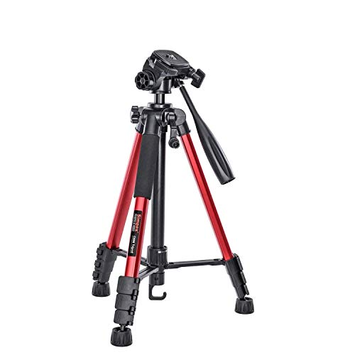 Simpex Tripod C-606 – Professional Tripod with Carry Bag (Red)