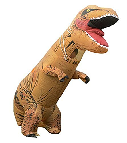 Adult's T-Rex Inflatable Blow Up Dinosaur Halloween Party Fancy Suit Costume Outfit (Annual Halloween Costume Party)