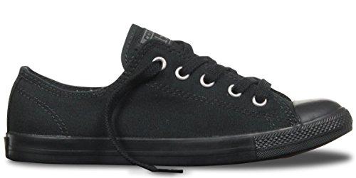 Converse Women's Chuck Taylor Dainty Low Top Sneaker Black Monochrome 5 M US