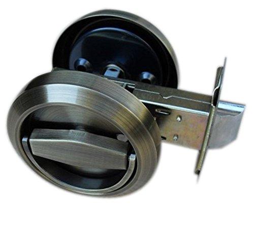 UniDecor Antique bronze Stainless Steel 304 Low Profile Door Knob Passage Bolt/Pull (No American Standard) by Unilocks