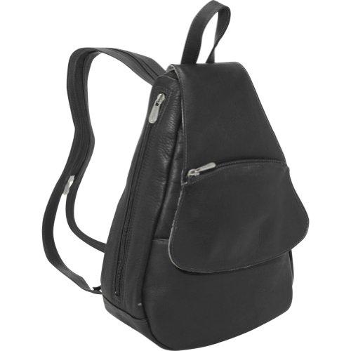Piel Flap-Over Sling – Black, Bags Central
