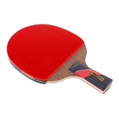 Baosity Portable Fast Attack Table Tennis Ping Pong Racket/Bat/Paddle - 10 cm Long Handle/Shakehand Using Double Reverse Glue by Baosity