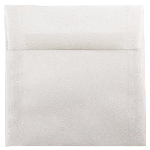 JAM PAPER 8.5 x 8.5 Square Translucent Vellum Invitation Envelopes - Clear - 25/Pack ()