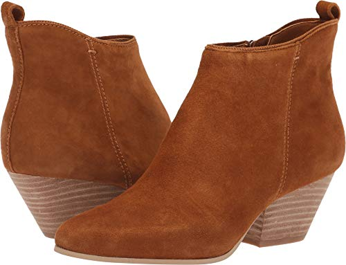 Dolce Vita Women's Pearse Ankle Boot, Dark Saddle Suede, 9 M US