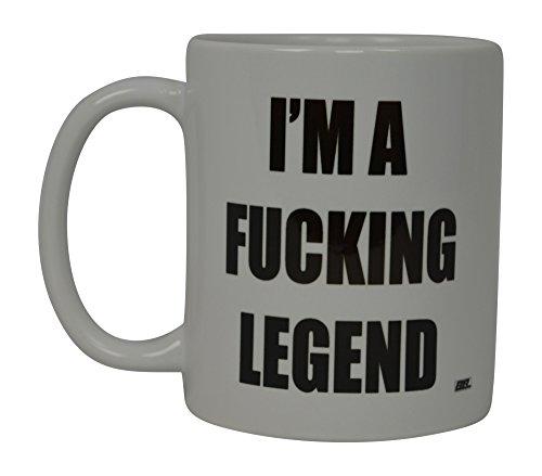 Best Funny Coffee Mug I'M A Fucking Legend Novelty Cup Joke Great Gag Gift Idea For Men Women Office Work Adult Humor Employee Boss Coworkers