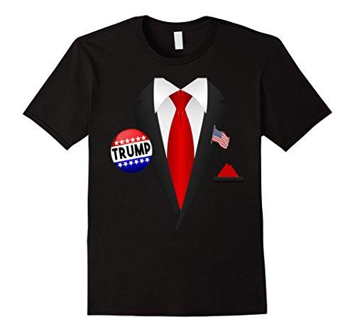 Funny Black Man Halloween Costumes (Mens Donald Trump Halloween Costume Funny T-Shirt 2XL Black)