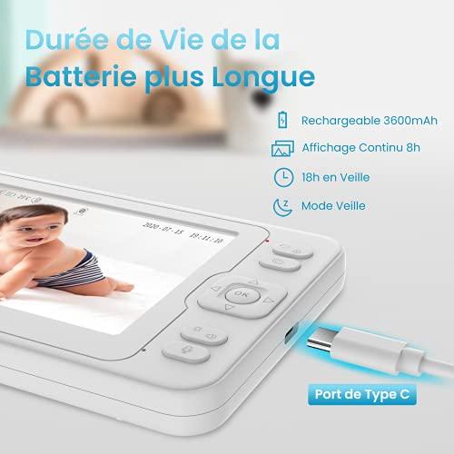 Pelaby Babyphone Video Caméra 5.0\
