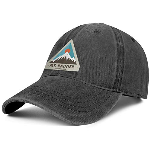 MT. Mount Rainier National Park Unisex Adjustable Baseball Hat Custom Casual Caps