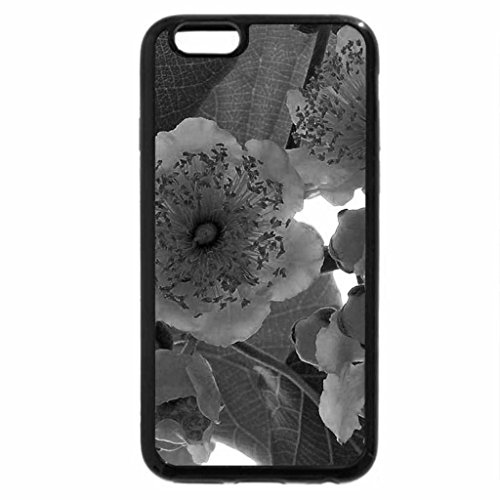 iPhone 6S Case, iPhone 6 Case (Black & White) - Kiwi- flower