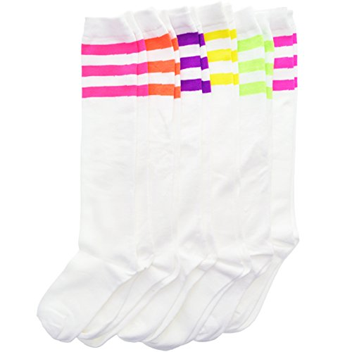 Angelina NEON Referee Knee High Socks 6-Pair-Pack #2539WN_9-11_6PK -