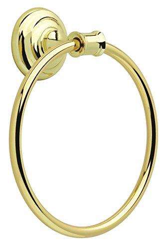 Delta Faucet OAK46-PB Oakley Bath Hardware Accessory Towel Ring, Polished Brass