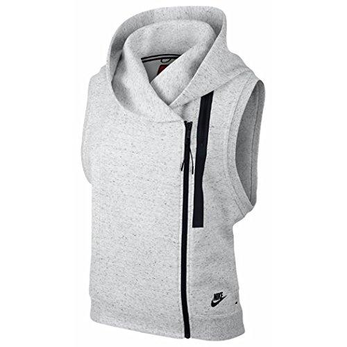 Summit Hoodie Vest - Nike Womens Tech Fleece Vest Hoodie (Large, Summit White/Heather/Black)