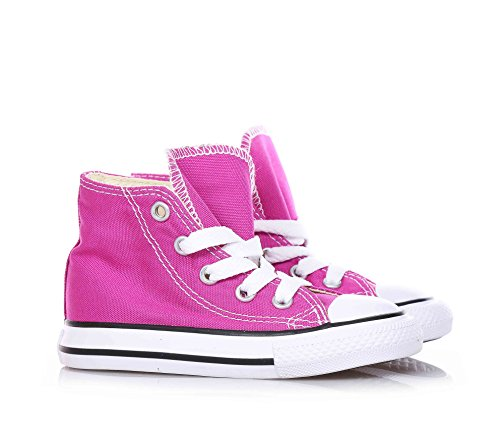 Rosa Bambina In Converse Tela Scarpa Fucsia Sneaker Stringata vzqzwgRfUP