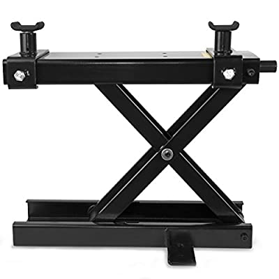 Stark 1100Lbs Motorcycle Lift Scissor Wide Stand Center Jack Lift Repair Bike, Cruiser Touring Motorcycle Off-Road Bike, Black: Automotive