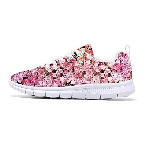 Första Dansen 2017 Mode Blomma Designen Kvinna Löparskor Lätta Promenader Sneakers Blom 5
