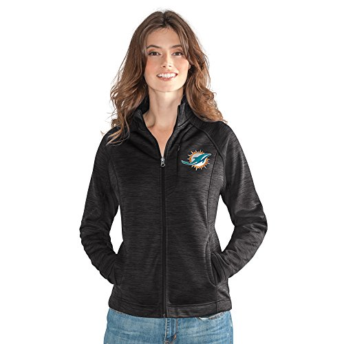 GIII For Her NFL Miami Dolphins Women's Hand Off Full Zip Jacket, X-Large, (Miami Dolphins Apparel)