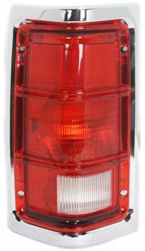 Dodge RAM Pickup/Ramcharger Replacement Tail Light Unit (Chrome Border) - Driver Side AutoLightsBulbs