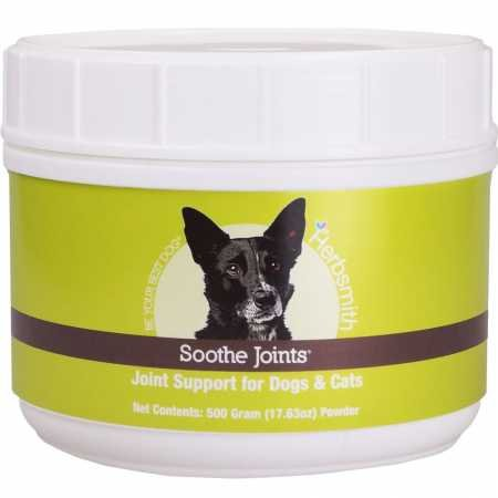 Herbsmith Soothe Joints – Cat + Dog Arthritis Pain Relief –Relief For Senior Pet Aches + Pains – Joint Health for Senior Dogs + Cats – 500g Powder For Sale