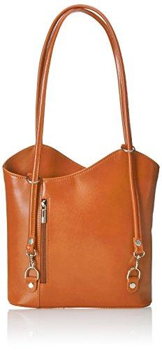 Chicca Borse 9039-Cuoio, Bolsa de Medio Lado para Mujer, Naranja (Cuoio), 30 cm