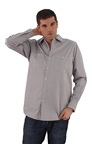 ASD Living Oxford Long Sleeve Server Waitstaff Shirt, Extra Large, Pepper by ASD Living