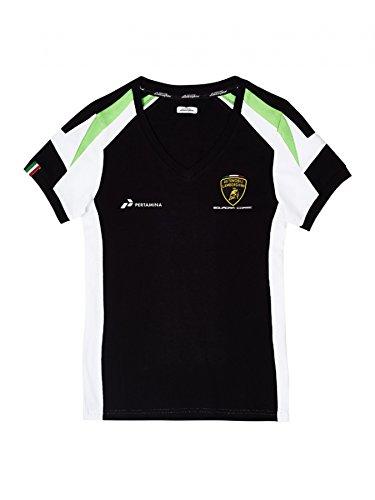 Automobili Lamborghini Squadra Corse Women's T-Shirt, Black - Michael Corse