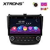 XTRONS Car 10.1 inch Touch Display Android 8.1 Car GPS Navigator Stereo Radio with USB Bluetooth 5.0 Supports OBD DVR Backup Camera 4G 3G TPMS for Honda Accord (no-DVD Player)