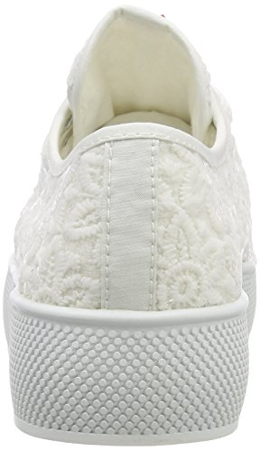 Esprit Barbie Embro, Sneakers Basses Femme Blanc (White)